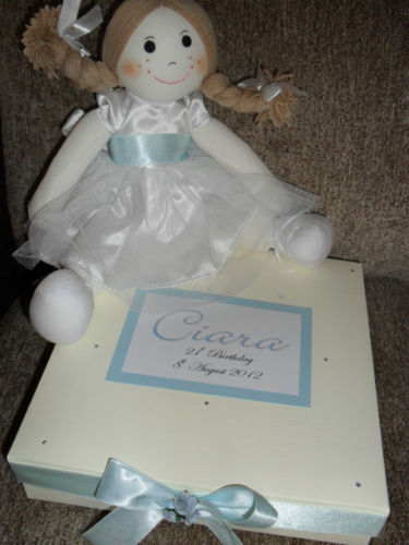 Flowergirl or Bridesmaid Rag Doll Gift in personalised gift box