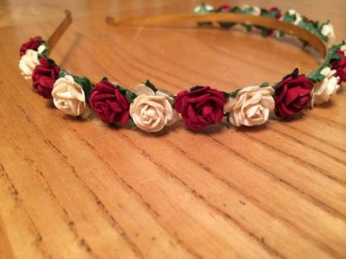 Mulberry Rose Head Band