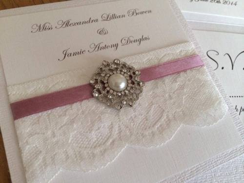 Vintage Pearl Wedding Invitation