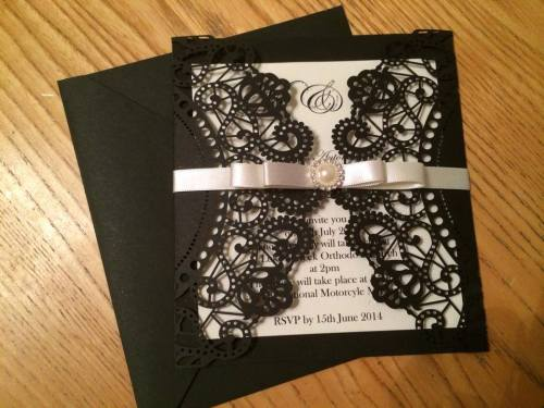 Vintage Lasercut Wedding Invitation