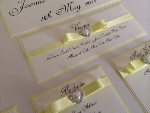 A2 Diamante Pearl Heart Wedding Table Plan