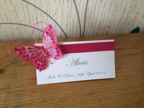 3d Butterfly Place Card