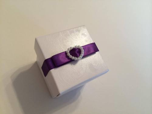 Wedding Favour Box - Pearl Heart