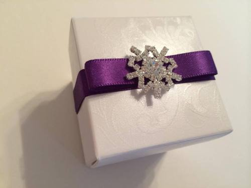 Wedding Favour Box - Snowflake