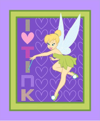 Licensed Disney Tinkerbell Panel