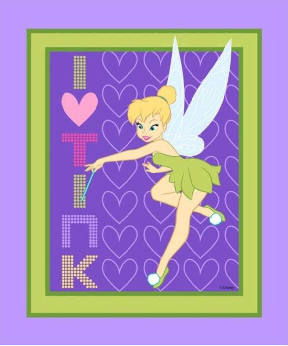 Licensed Disney Tinkerbell Panel