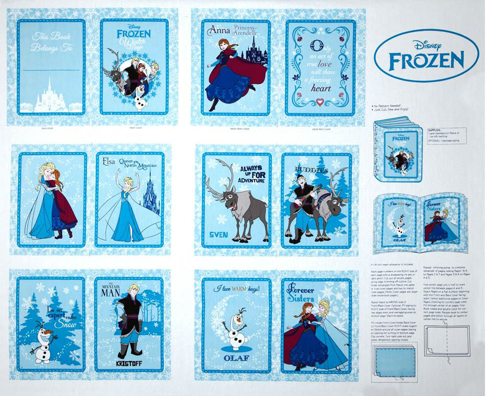 Licensed Disney - Frozen Book Panel