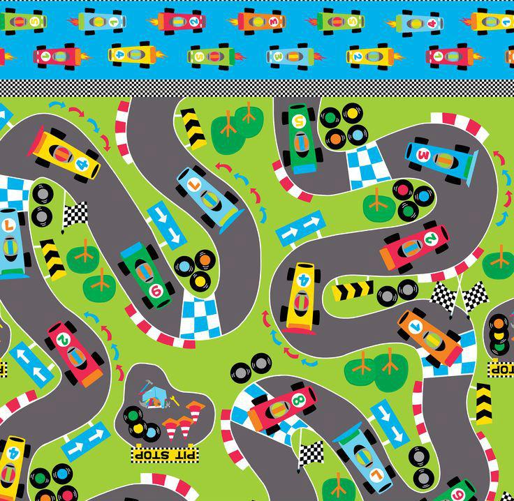 Benartex - Greta Lynn - Vroom Vroom - Speedway