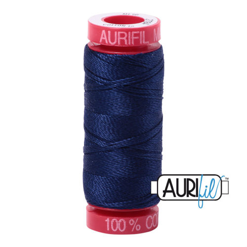 Aurifil Cotton 12wt, 2784 Dark Navy