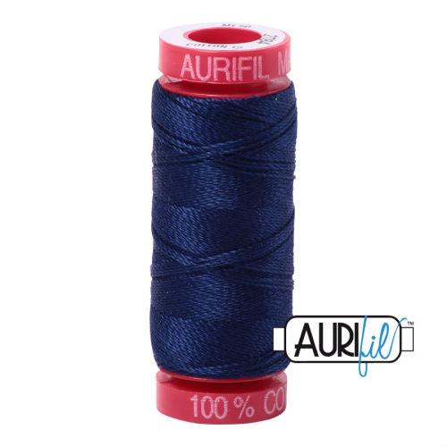 Aurifil Cotton 12wt, 2784 Dark Navy