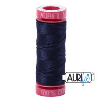 Aurifil Cotton 12wt, 2785 Very Dark Navy