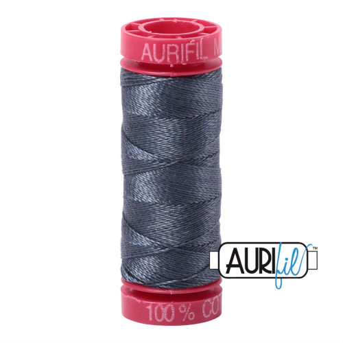 Aurifil Cotton 12wt, 1158 Medium Grey