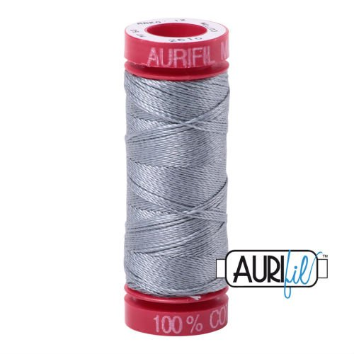 Aurifil Cotton 12wt, 2610 Light Blue Grey