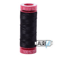 Aurifil Cotton 12wt, 4241 Very Dark Grey