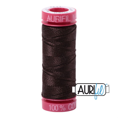 Aurifil Cotton 12wt, 1130 Very Dark Bark