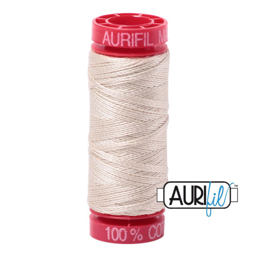 Aurifil Cotton 12wt, 2310 Light Beige