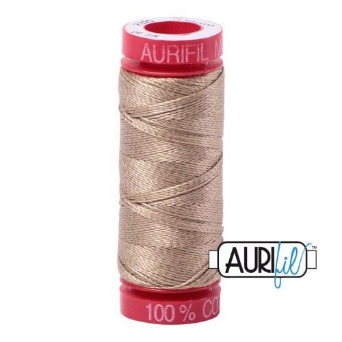 Aurifil Cotton 12wt, 2325 Linen