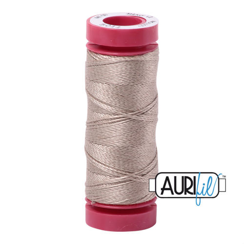 Aurifil Cotton 12wt, 5011 Rope Beige