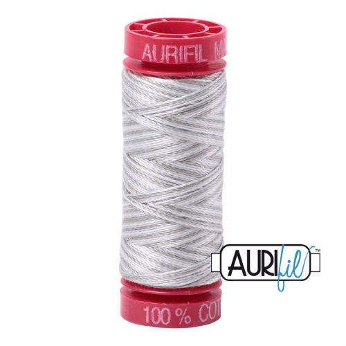 Aurifil Cotton 12wt, 4060 Silver Moon