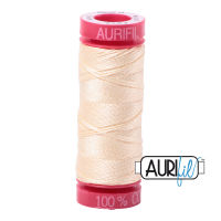 Aurifil Cotton 12wt, 2123 Butter