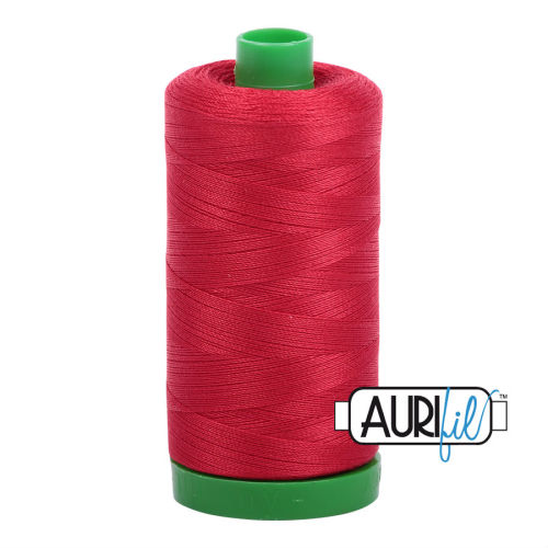 Aurifil Cotton 40wt, 2250 Red