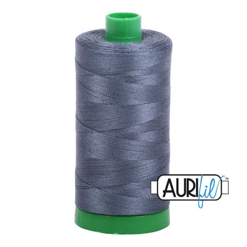 Aurifil Cotton 40wt, 1158 Medium Grey
