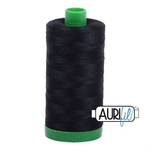 Aurifil Cotton 40wt, 2692 Black