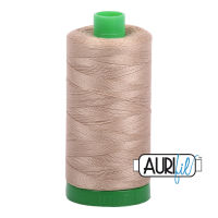 Aurifil Cotton 40wt, 2325 Linen