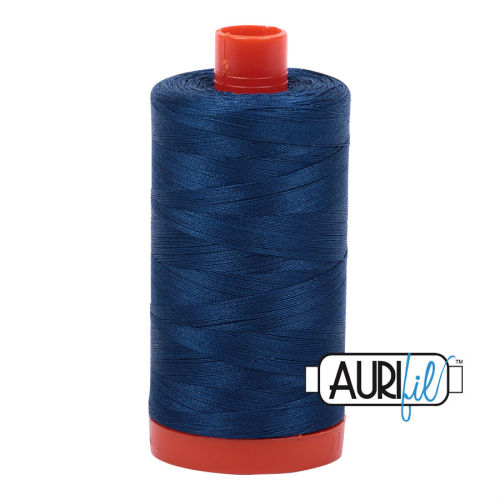 Aurifil Cotton 50wt, 2783 Medium Delft Blue