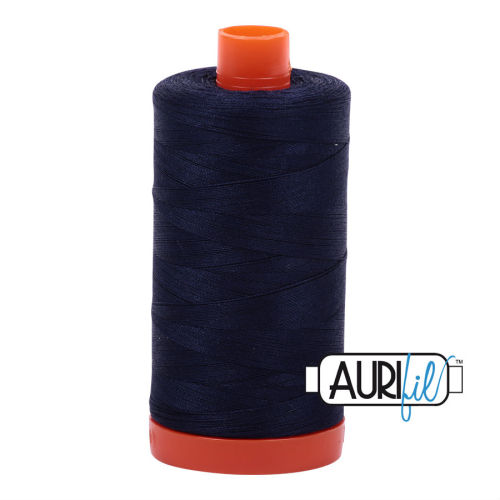Aurifil Cotton 50wt, 2785 Very Dark Navy