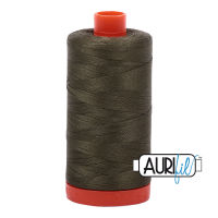 Aurifil Cotton 50wt, 2905 Army Green