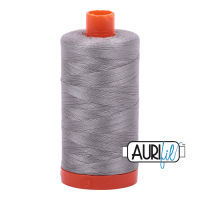 Aurifil Cotton 50wt, 2620 Stainless Steel