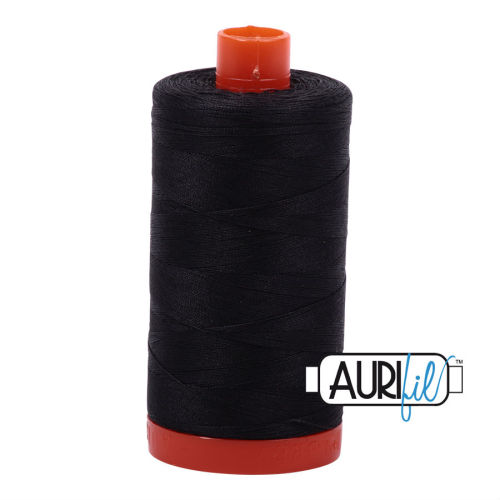 Aurifil Cotton 50wt, 4241 Very Dark Grey