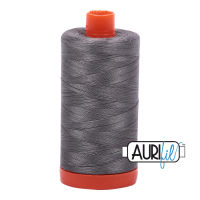 Aurifil Cotton 50wt, 5004 Grey Smoke