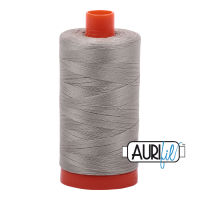 Aurifil Cotton 50wt, 5021 Light Grey