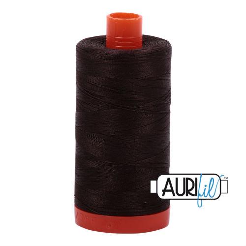 Aurifil Cotton 50wt, 1130 Very Dark Bark