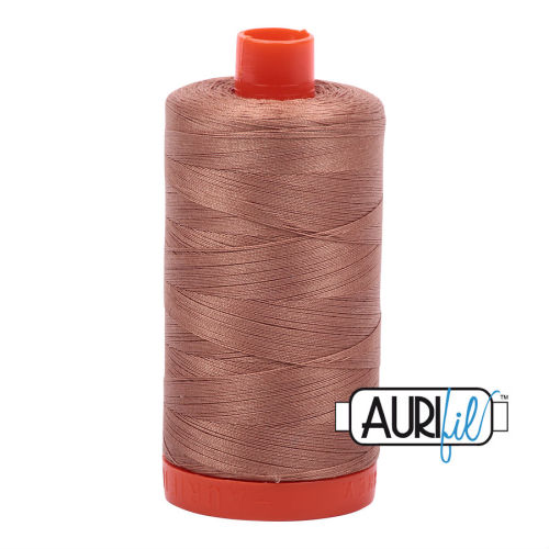 Aurifil Cotton 50wt, 2340 Cafe' au Lait