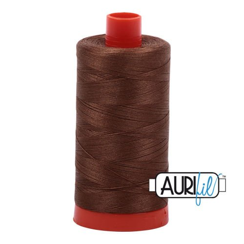 Aurifil Cotton 50wt, 2372 Dark Antique Gold