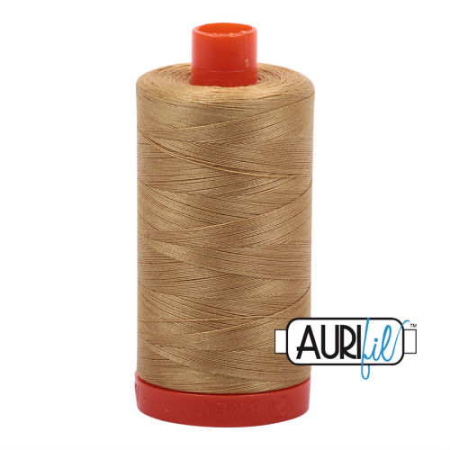 Aurifil Cotton 50wt, 2920 Light Brass