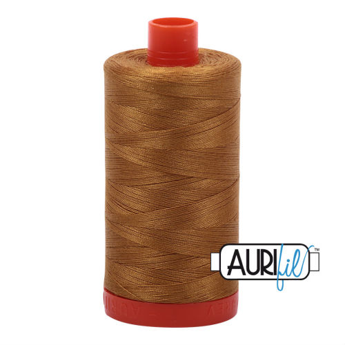Aurifil Cotton 50wt, 2975 Brass