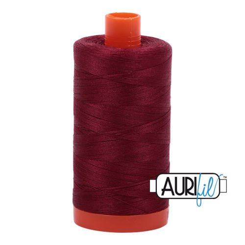 Aurifil Cotton 50wt, 2460 Dark Carmine Red