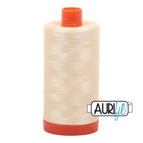 Aurifil Cotton 50wt, 2110 Light Lemon