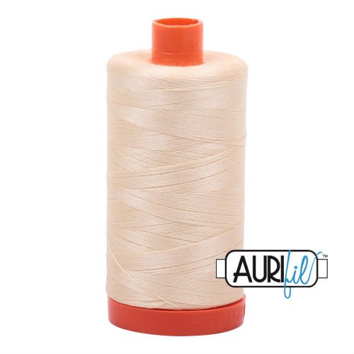 Aurifil Cotton 50wt, 2123 Butter