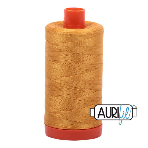 Aurifil Cotton 50wt, 2140 Orange Mustard