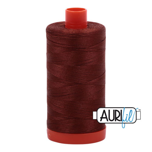 Aurifil Cotton 50wt, 4012 Copper Brown