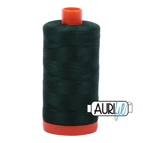 Aurifil Cotton 50wt, 4026 Forest Green