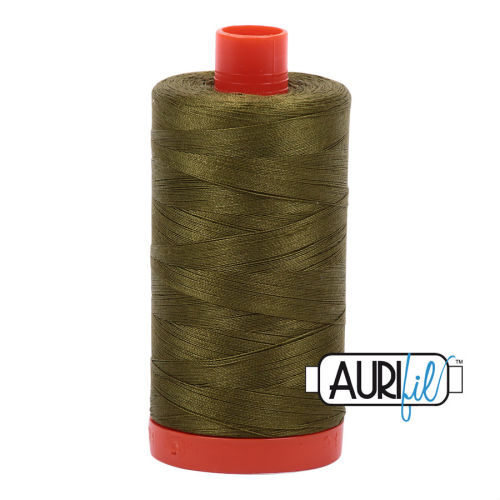 Aurifil Cotton 50wt, 2887 Very Dark Olive