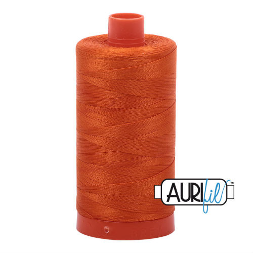 Aurifil Cotton 50wt, 2235 Orange