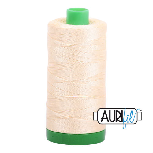 Aurifil Cotton 40wt, 2123 Butter