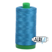 Aurifil Cotton 40wt, 1125 Medium Teal